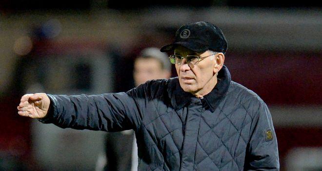 Gadzhi Gadzhiyev: Anzhi manager watches on during draw