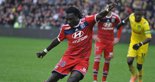 Bafetimbi Gomis strokes home a penalty for Lyon