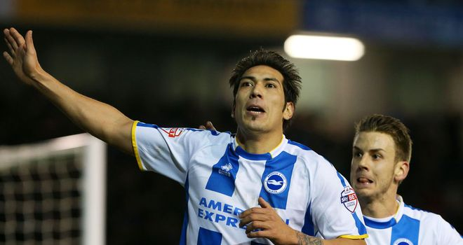 Leonardo Ulloa: Grabbed the second goal for Brighton.