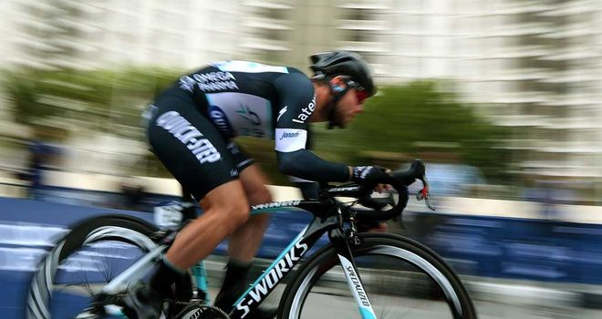Mark Cavendish in action in Dubai