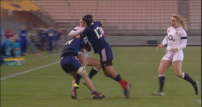 France women ran out 18-6 winners in their Six Nations clash against England