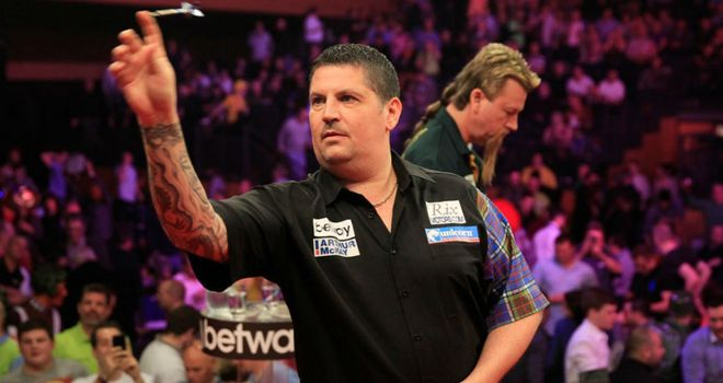 Gary Anderson: Takes on fellow Scot Robert Thornton in Belfast