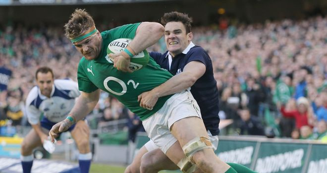 Jamie Heaslip: Ireland No 8 made 65 carries during tournament
