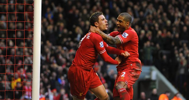 Jordan Henderson continued his remarkable run of form with two goals at Anfield