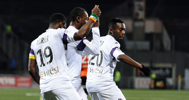 Toulouse players celebrate after sealing the victory