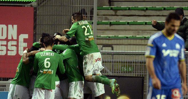 St Etienne celebrate Brandao's equaliser