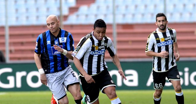 Luis Muriel moves forward