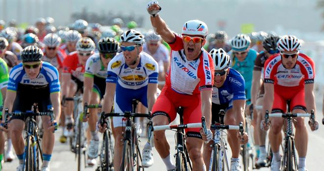 Alexander Kristoff claimed his first win of the season