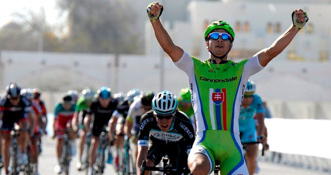 Peter Sagan claimed his first win of the season, and race lead in the process