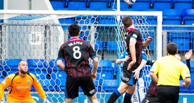 Gary Warren of Inverness scores the only goal at McDiarmid Park