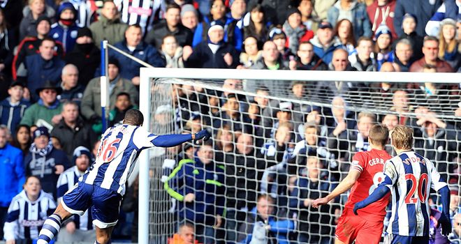 Victor Anichebe: Fires in the equaliser for West Brom