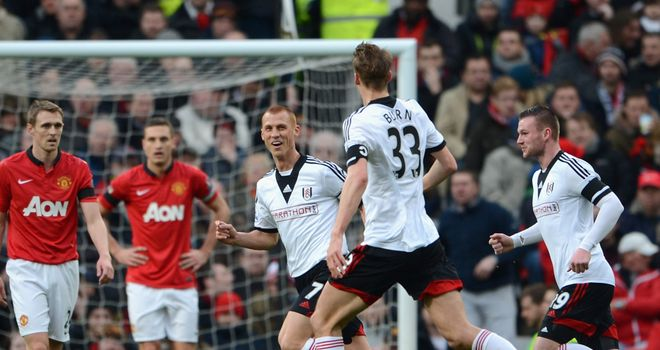 Steve Sidwell: Fired Fulham into a shock lead