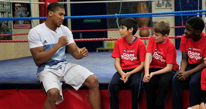 Anthony Joshua: Believes boxing can play a big part in kids' development (Pic Lawrence Lustig)