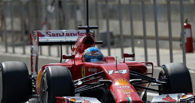 Fernando Alonso in action in Bahrain