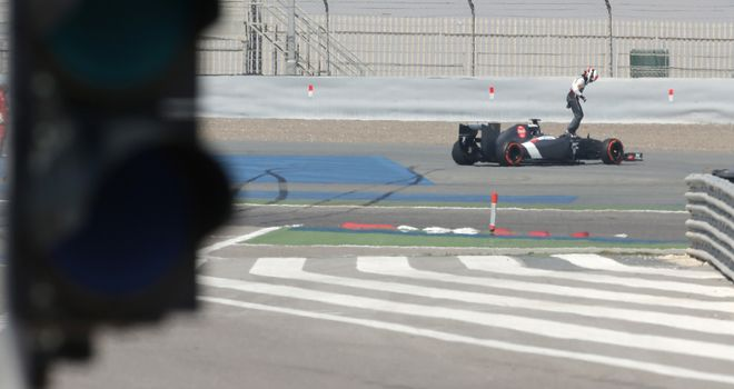 Adrian Sutil: Spun off on Wednesday
