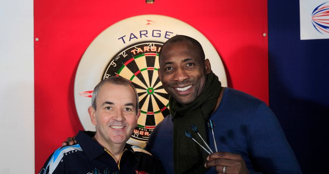 Phil Taylor and Johnny Nelson: bonded over a game of 501