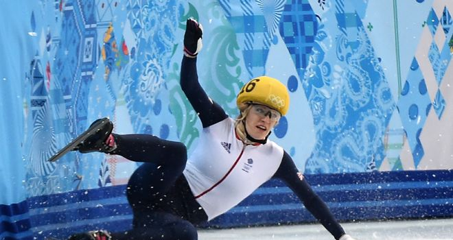 Elise Christie: GB short track speed skater penalised again in the 1000m