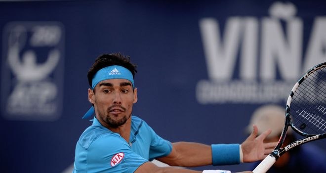 Fabio Fognini: Will face Leandro Mayer in Vina del Mar final