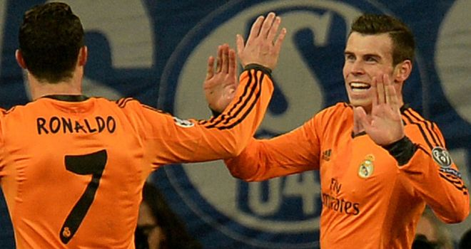 Gareth Bale: Enjoys his first with Real Madrid team-mate Cristiano Ronaldo