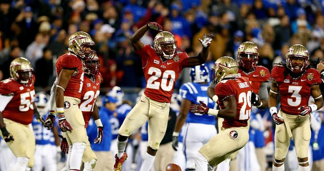 Lamarcus Joyner celebrates with the Florida State Seminoles