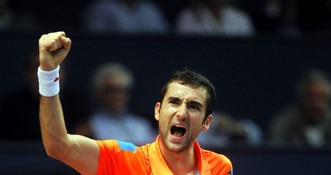 Winning joy: Croatia's Marin Cilic celebrates after defeating Germany's Tommy Haas in the final