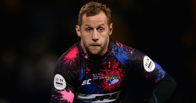 Rob Burrow has been forced to the sidelines by a collarbone injury