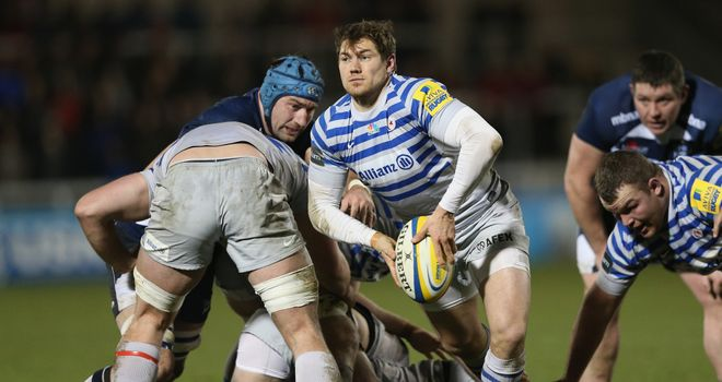 Alex Goode: England full-back was back on domestic duty at AJ Bell Stadium