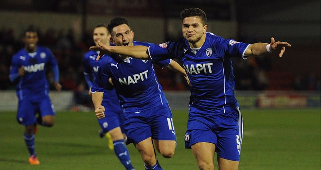 Sam Morsy: Grabbed a second goal for Chesterfield
