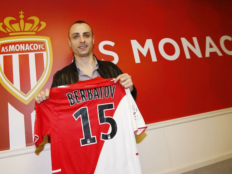 Dimitar Berbatov: Joined Monaco on loan in January