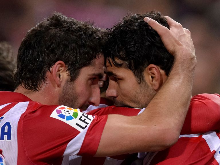 Atletico Madrid celebrate against Real Sociedad