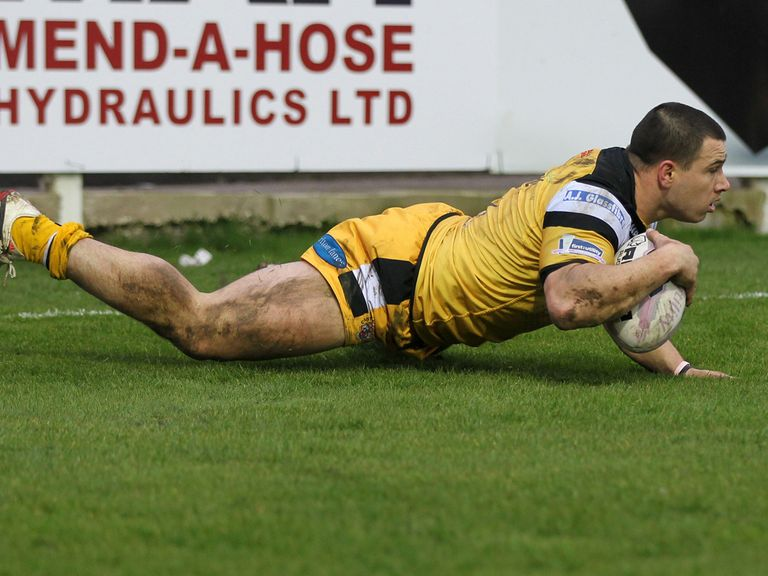Justin Carney: Scored a hat-trick of tries for Castleford