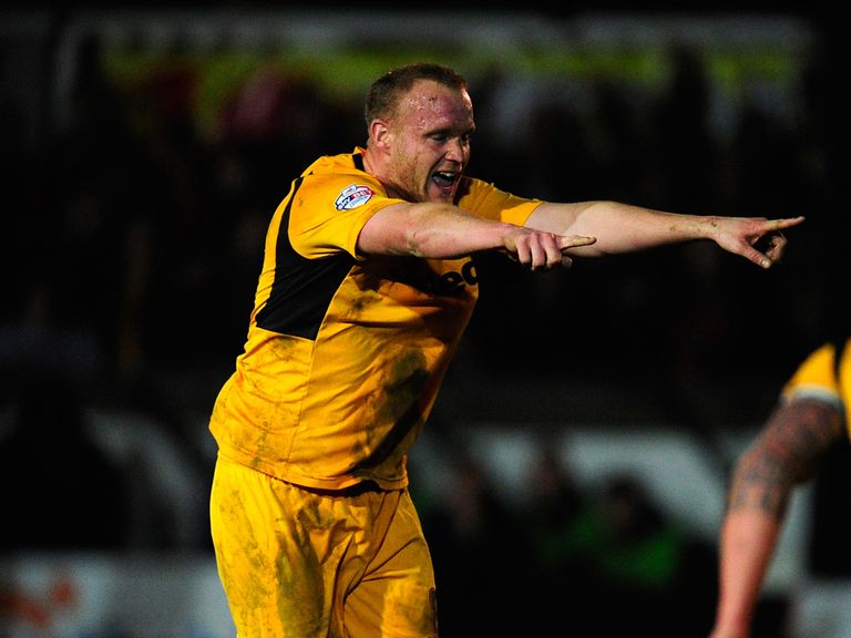 Lee Minshull of Newport celebrates