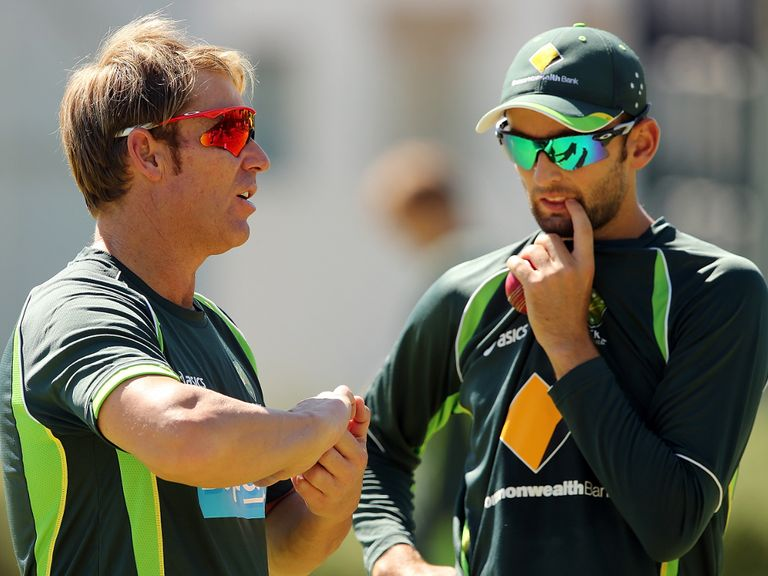 Nathan Lyon (right): Poised for a return to the Australia limited-overs team for the first time since 2012.