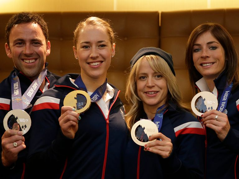 Team GB's medal winners David Murdoch, Lizzy Yarnold, Jenny Jones and Eve Muirhead