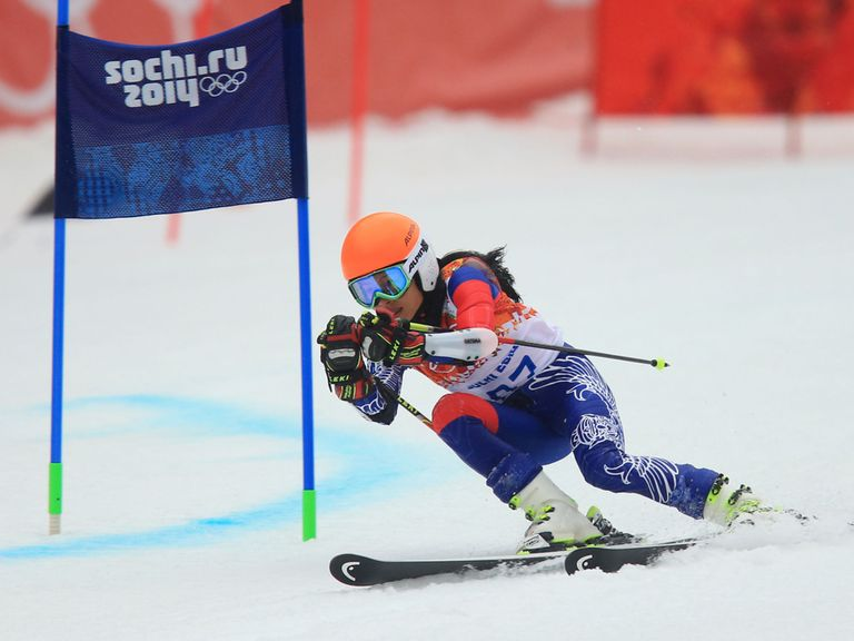 Vanessa-Mae in action in Sochi