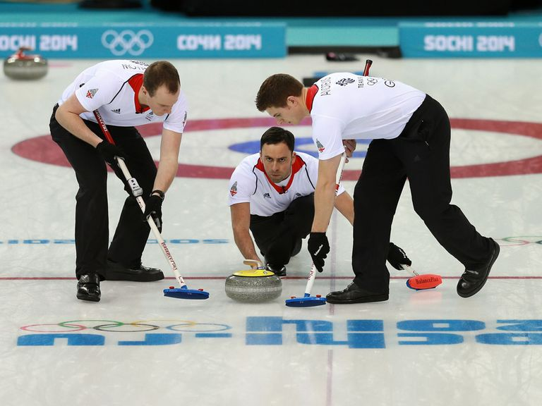 The British men's curling team beat Switzerland
