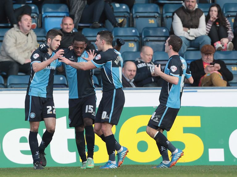 Wycombe's Max Kretzschmar celebrates after scoring