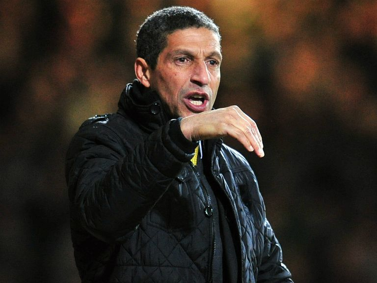 Chris Hughton: Has been told Norwich must stay up