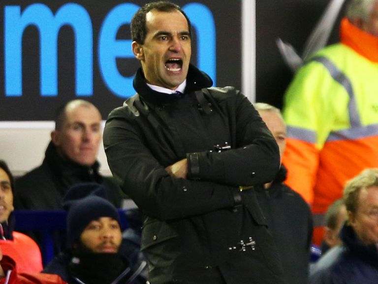 Roberto Martinez: His Everton side face Crystal Palace tonight