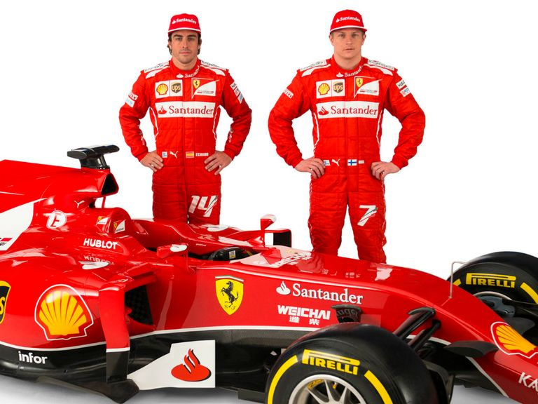 Alonso (l) has outperformed Raikkonen at Ferrari so far this season