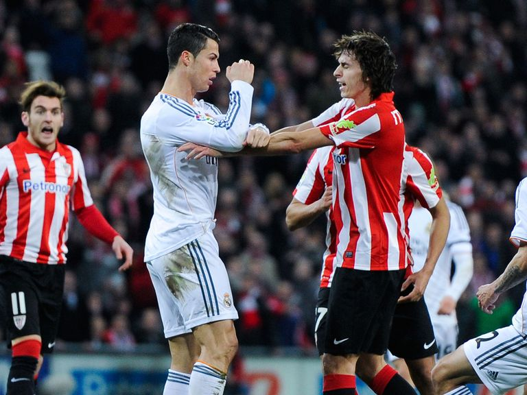 Cristiano Ronaldo in action against Atletico