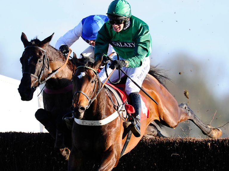 Shangani (blue) looks weighted to win at Newbury