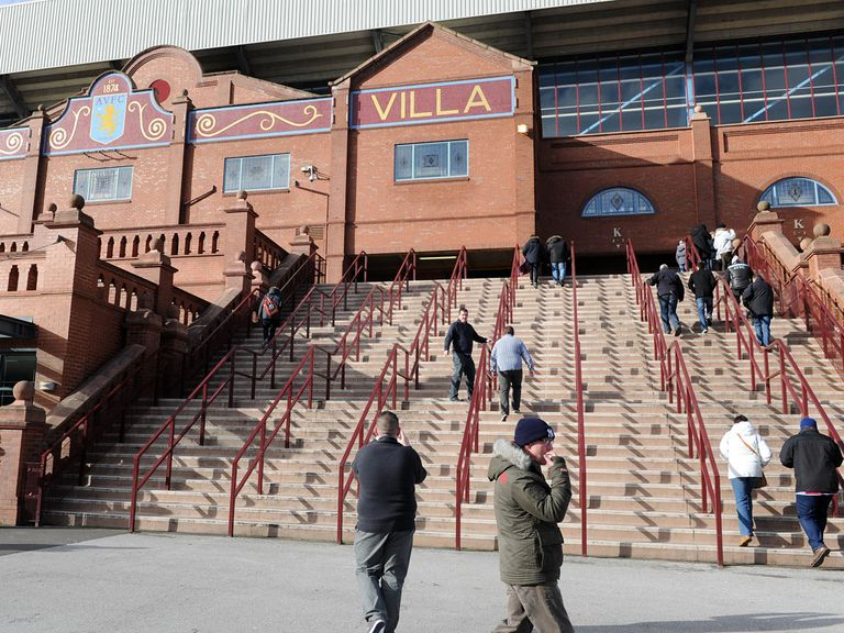 Aston Villa: Keen to trial 'rail-seats' at Villa Park
