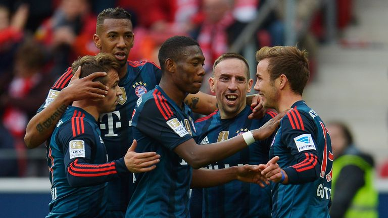 Mario Gotze: Celebrates his goal for Bayern Munich