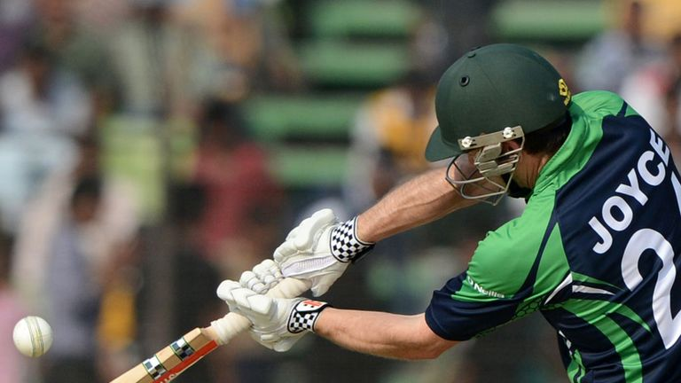 Ed Joyce struck 43 off 38 balls to put Ireland well ahead of the rate