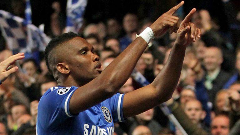 Samuel Eto'o: Celebrates netting Chelsea's opener
