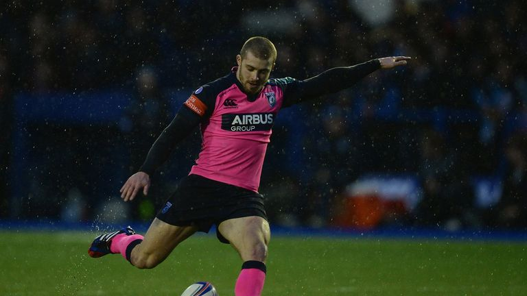 Gareth Davies: 23 points with the boot for Cardiff Blues