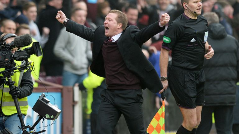 Gary Locke: Delighted with Hearts 2-0 win over Hibernian