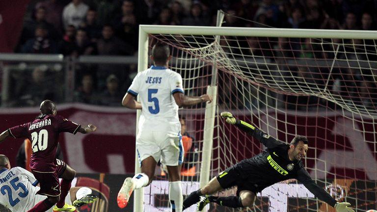 Innocent Emeghara scores Livorno's late equaliser