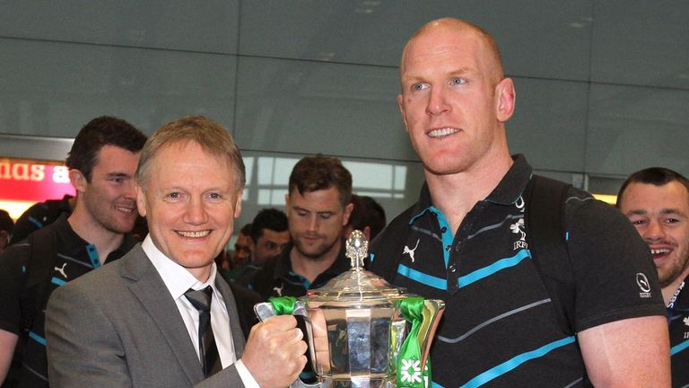 Joe Schmidt with Ireland skipper Paul O'Connell: making plans for 2015